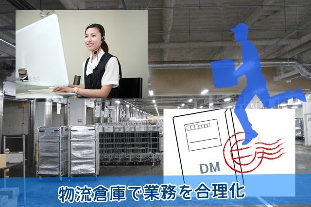 物流倉庫で業務を合理化